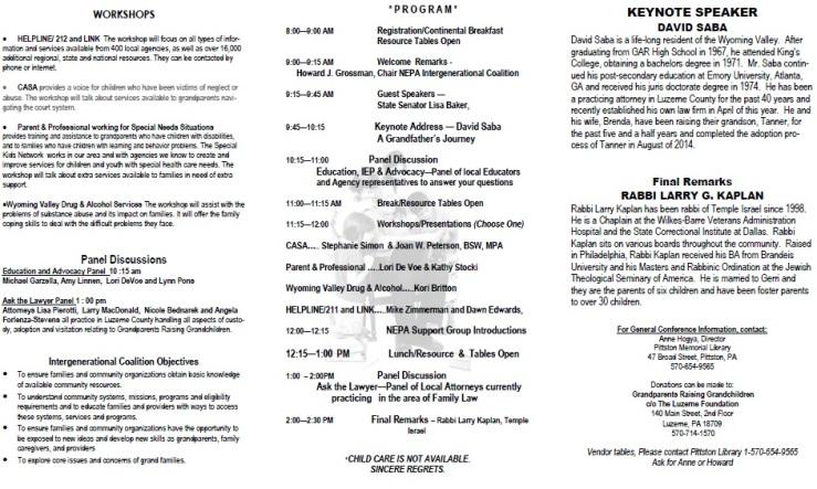 Grandparents Conference 2